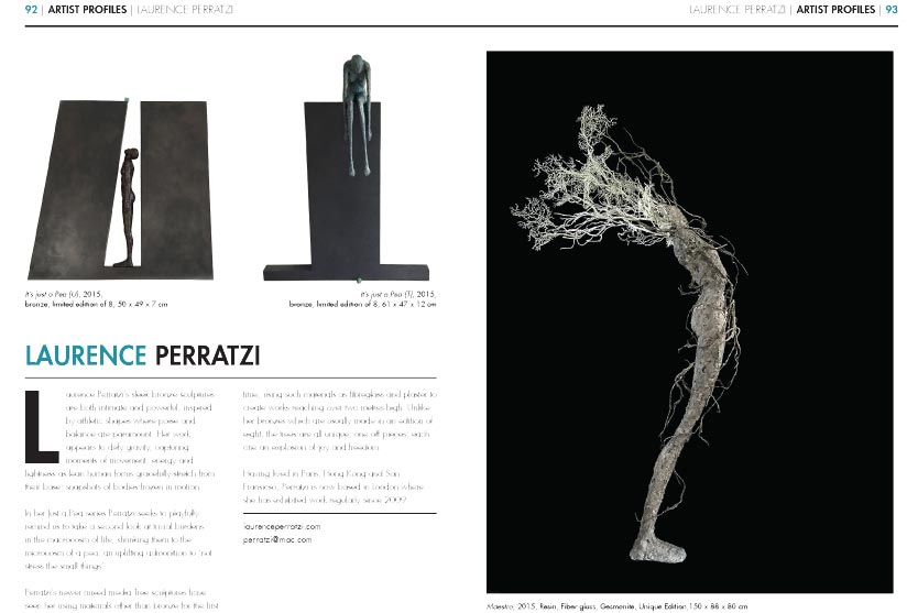 Laurence Perratzi in the INSIDE ARTISTS Magazine - November 2015